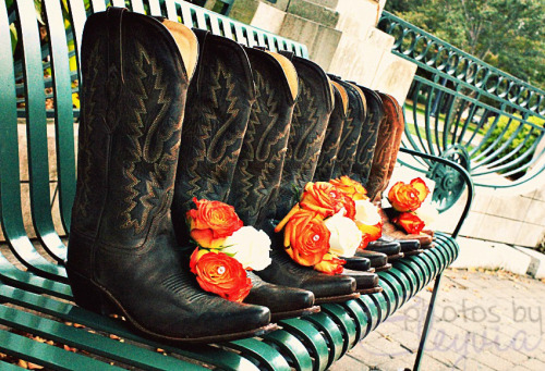 ryderlife:  Cowboy boots and orange corsages?!?!? Perfect!