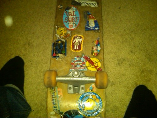 Found my first skateboard back @ home…