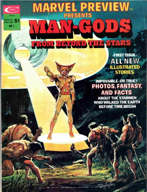 ladythatsmyskull:  Marvel Preview #1 - Man-Gods (1975)