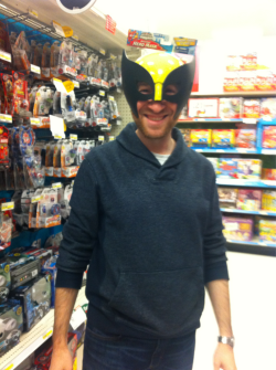 Yes. I married this man. He is wearing a Wolverine mask.