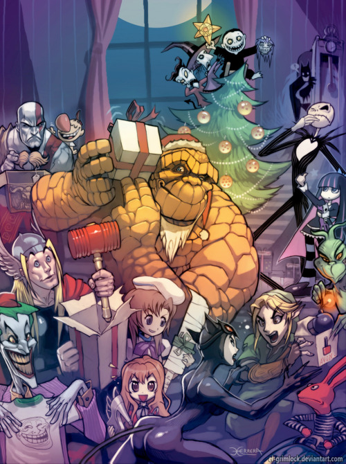 The Thing on Christmas // by el-grimlock