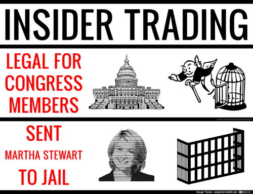 owsposters:  Insider Trading: Legal for Congress. Sent Martha Stewart to Jail. Download the poster pack Author's note: The image of Martha Stewart does not condense well, as in this small display image. It looks fabulous printed on a poster.