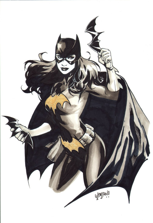 Batgirl by Emanuela Luppachino.