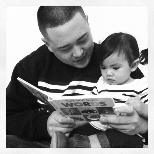 Study time with Uncle Alex.