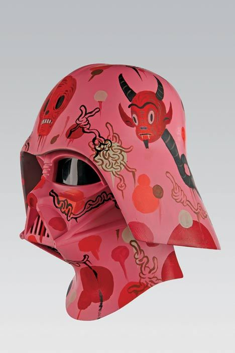 One hundred contemporary and urban artists were invited to give Darth Vader's helmet a makeover and the results were astounding. Quite an array of looks were produced, but the headwear of the Sith remains easily recognizable whether adorned by Plasticgod, Gary Baseman, Shag, Dalek, Amanda Visell, Bob Dob, Tim Biskup, Marc Ecko and a host of others. The show has been travelling for four years and will be at Freeman's Auction in Los Angeles in June before moving on to Philly for the auction on July 10. The Vader Project is curated and produced by Dov Kelemer and Sarah Jo Marks of DKE Toys.