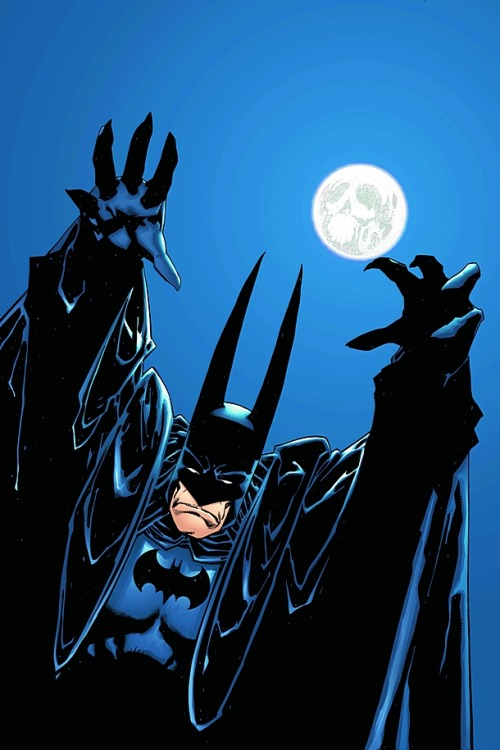 comicsforever:  Batman // artwork by Kelly Jones (2008)  this made laugh out loud for some reason