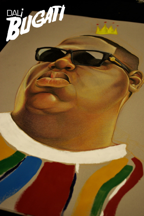 dalibugatiartwork:  Biggie Smalls piece: Colored Pencils & Acrylic