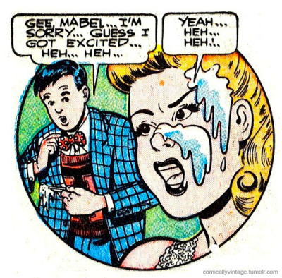 comicallyvintage:  Guess I Got Excited…  Bow Tie Men get the last laugh