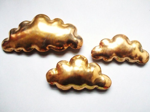 Golden cloud - porcelain wall cloud pillow - Stepanka