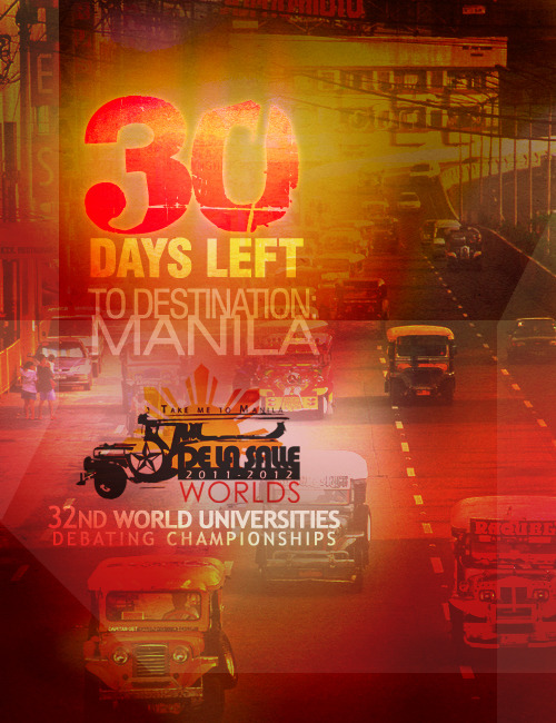 30 days left to the 32nd World Universities Debating Championships in Manila!