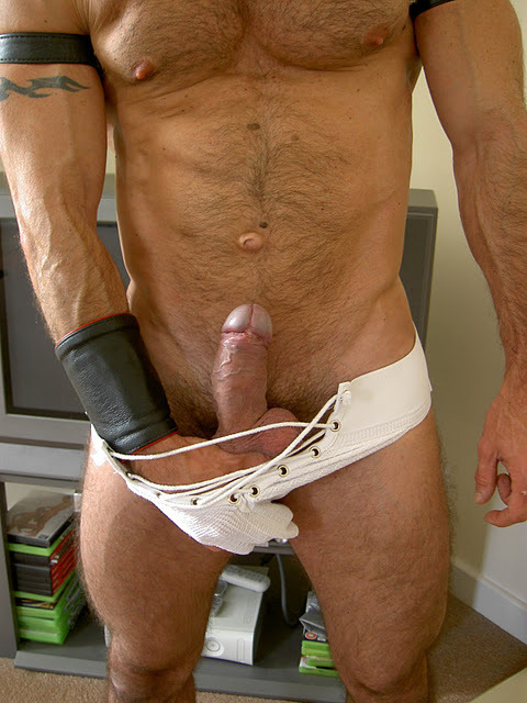 #thick #boner #outie #jockstrap #leather .. #hairy #otter