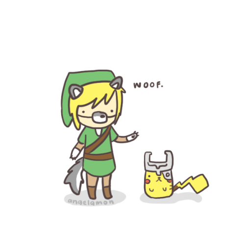 pikarar:  angelamon:  LOL HERE YOU GO HOLMES!  I drew link cosplaying in his wolf form. LOL  Can you just be my twin now.