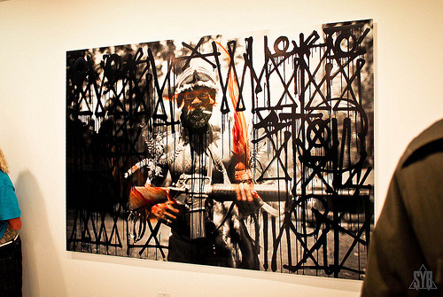 KC Ortiz x Retna collaboration piece @ Known Gallery