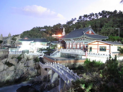 Ocean temple in Busan, Korea