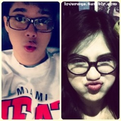 "justarandomstory:  loveraqs:  eeeeeeh! bebegirl and bebeboy.. pout lang ng pout :D  THEY ARE THE CUTEST!!! :"""""""""""""""">"