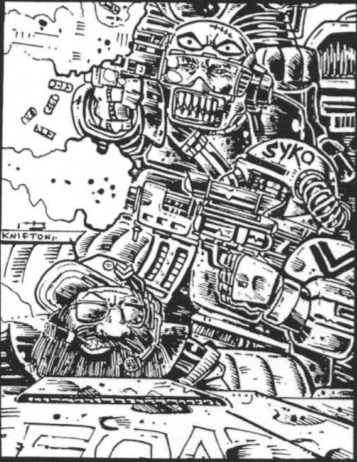 Interior illo, Warhammer 40000 Rogue Trader. Pete Knifton, 1987.