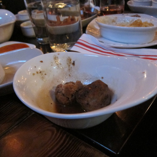 The Meatball Factory, LES Rating: 4 out of 5 Slappaz.  Randy came to town for dinner, and it was on…balls, balls and more balls!!!! The meatballs were tasty, though the service was a bit questionable. We did get a round of wine for the table because of an eff up on their part, and we saw the Top Chef owner of the restaurant.  www.themeatballfactorynyc.com
