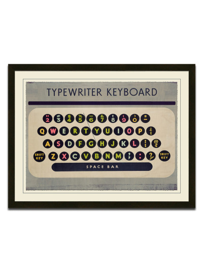typewriter keyboard framed giclee print by  Soicher Marin available on gilt.com