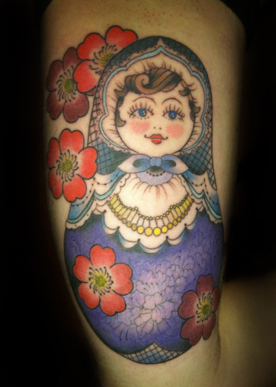 Russian doll #tattoo by Gemma tattoos at Full Circle Tattoo