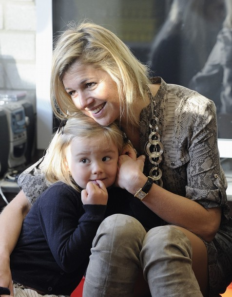 Princess Máxima and Princess Ariane of The Netherlands.