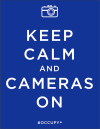 Keep calm and cameras on mark miller la @occupyposters
