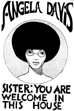 newmanology:  Angela Davis poster, early 1970s Source: Found SF