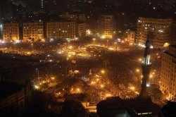 Aerial view shot of #Tahrir during the #Nov20 protests. #Tahrir, Cairo, Egypt.