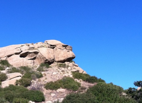 Cool rock formation I came across on our hike yesterday, looks kinda like a gorilla from the side I think.