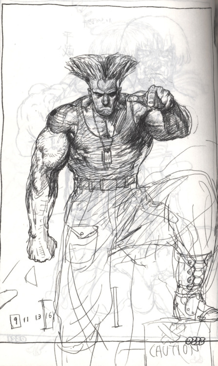 Guile from Katsuya Terada's sketchbook.