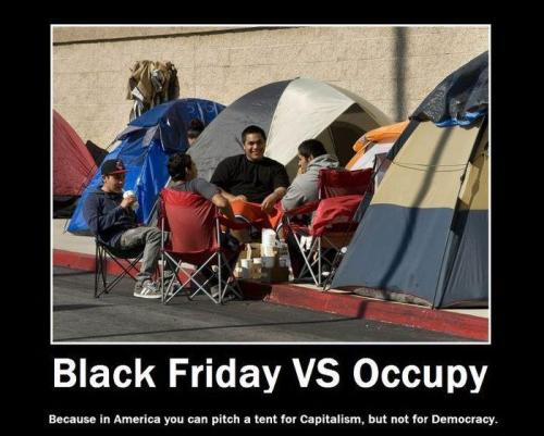 Black Friday vs. Occupy, or, capitalism vs. democracy living-life-simply:  Speaks for itself
