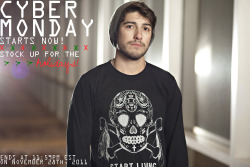 Missed our Black Friday sale? CYBER MONDAY STARTS NOW! Get up to 50% off on your favorite things at www.shopjawbreaking.com Reblog + spread the word! Photo by Mark Choi