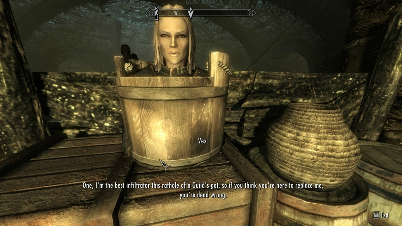 skyrimglitches:  Why does she always do this shit?!  lol yes, she does this all the time in my game xD