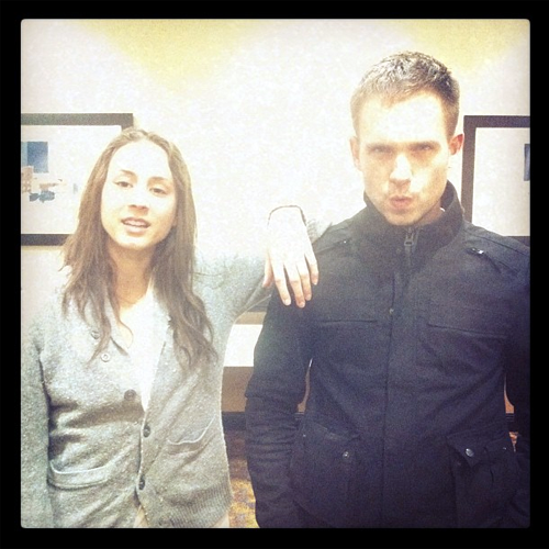 Troian Bellisario and Patrick J. Adams (photo by shane coffey)