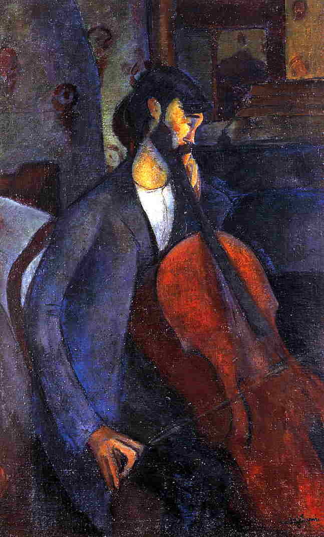 amadeo modigliani, the cellist, 1909