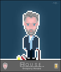 Pixel Art House MD - Gregory House