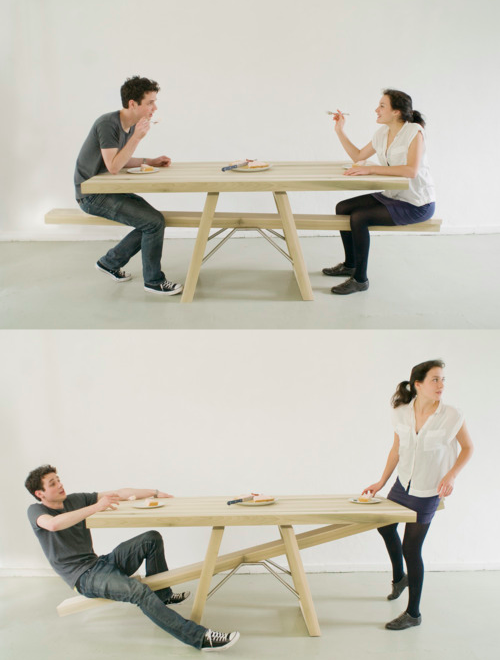see-saw table by Marleen Jansen | photos by Wim de Leeuw