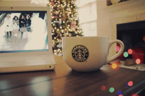 I think I will be doing a lot of this over Christmas break: coffee, decorations, tv.