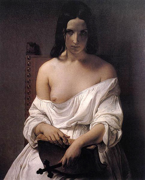 via masterpiecedaily:  Francesco Hayez Meditation on the History of Italy 1850 e quanto serve!