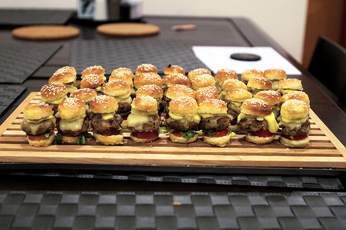 Mini burgers for my christmas party