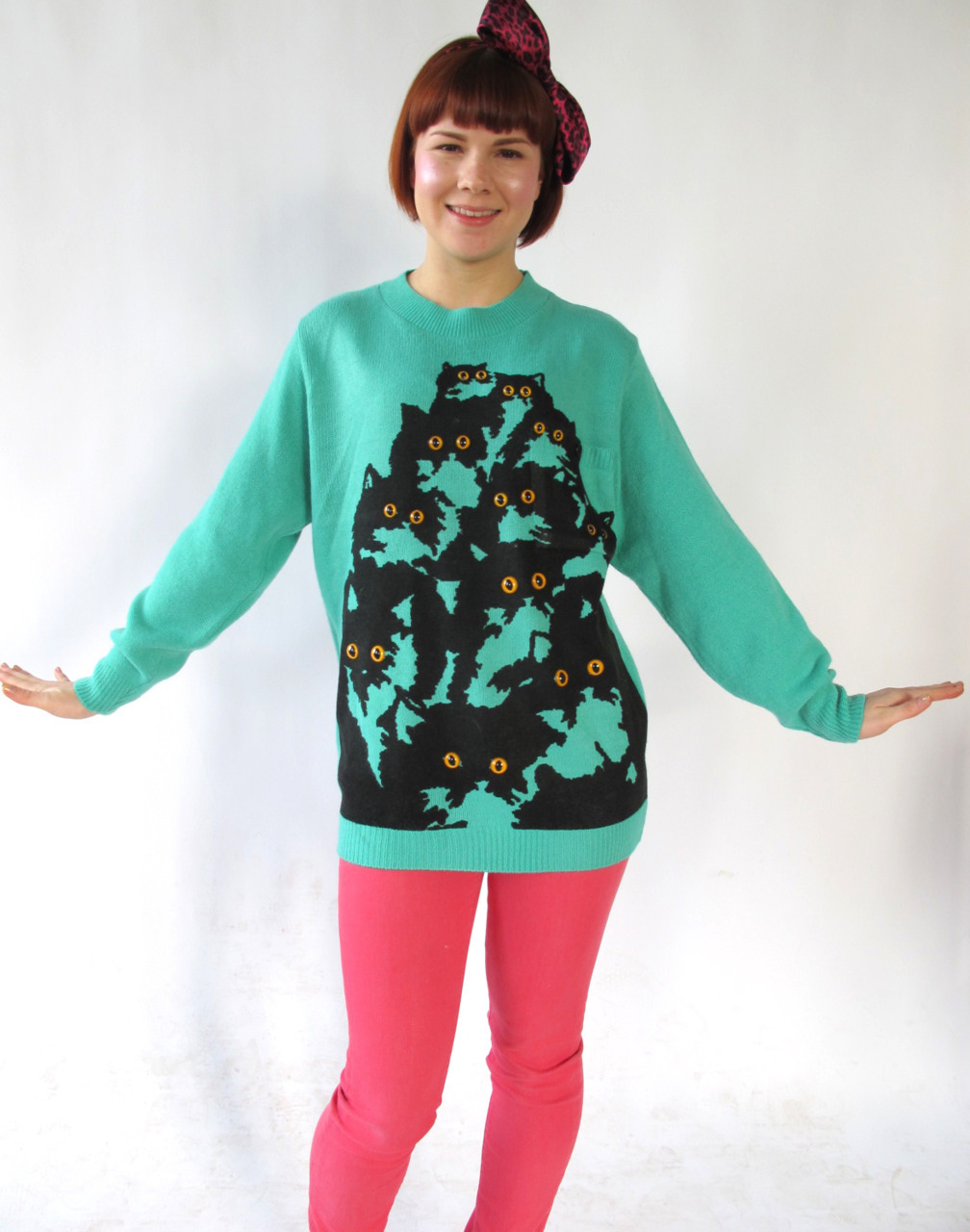 New Kitty Jumpers @ http://www.etsy.com/shop/PrettySnake ! Pretty Snake model Lizzy Colley @ http://connoisseurofcute.tumblr.com/