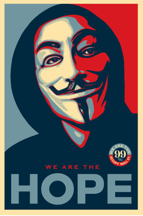 The revised Occupy poster by Shepard Fairey…and here's why ~ Occupy Hope v2.