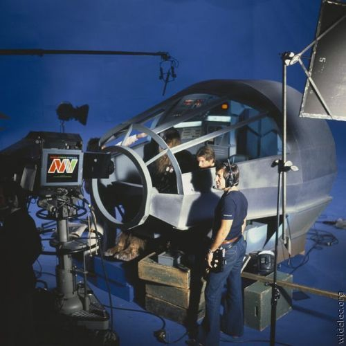 on the set of star wars.