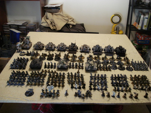 This is my Imperial Guard army for Warhammer 40,000.
