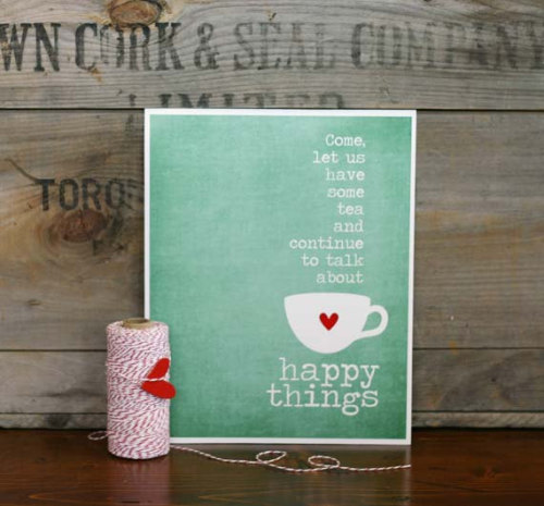 tea & happy things (by hairbrainedschemes) seen on etsy