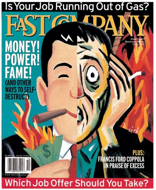 Fast Company, October 1998Design director: Patrick Mitchell, illustration: Art Spiegelman Source: Fast Company