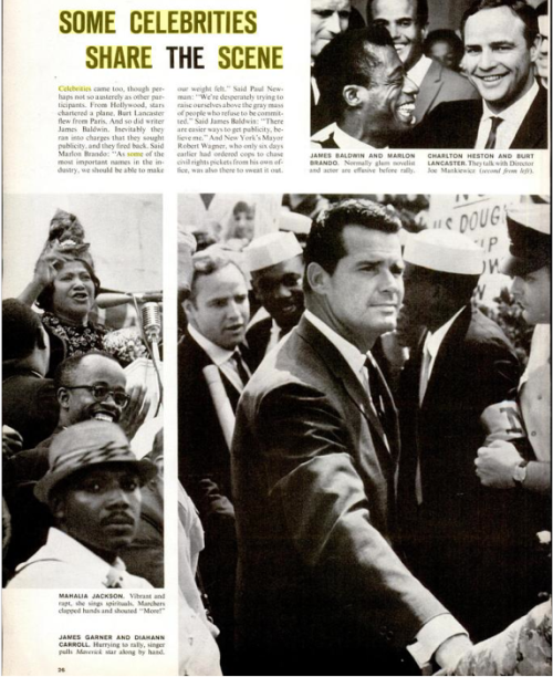 JAMES GARNER front and center during the March on Washington with Dr. Martin Luther King