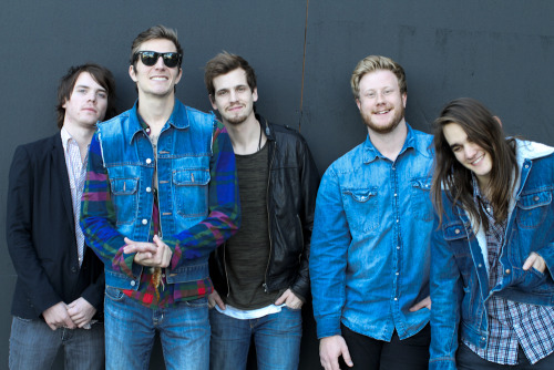 Hanging out with The Maine last week on the Sunset Strip. Photo by Brad Elterman