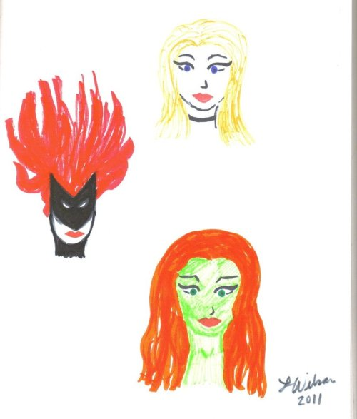 Black Canary, Batwoman, and Ivy ~by comicgrl (aka myself) Now that I look at this I wish I had gone for the hair more relaxed on Batwoman.