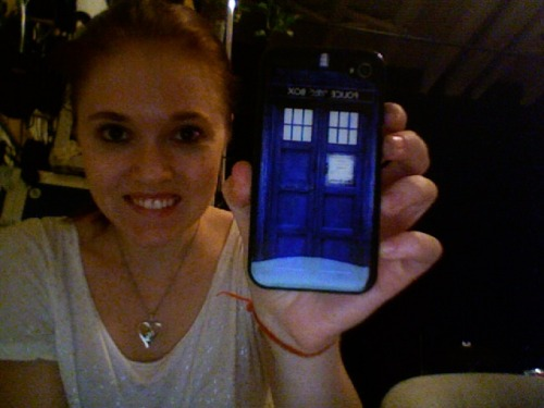 cinderanna:  Because I am that cool. AKA I got my TARDIS iPhone case today. WINNING.