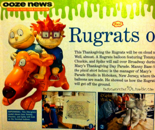 "best Thanksgiving parade ever (1997 - ""Rugrats on Parade"" Nickelodeon Magazine article)"